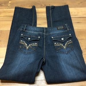 Embellished Boot Cut Earl Jeans